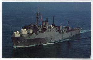 USS Point Loma AGDS-2 US Navy Support Ship postcard