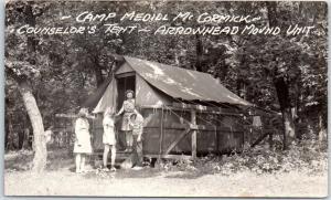 Stillman Valley IL RPPC Photo Postcard CAMP MEDILL McCORMICK Girls Scouts Camp