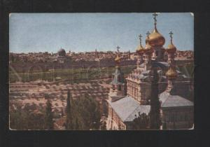 077921 Jerusalem from Mount of olives & russian CHURCH Vintage