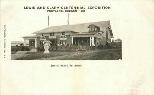 Idaho Building Lewis Clark Expo 1905 Portland Oregon Postcard undivided 4639
