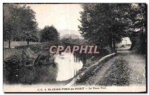 Old Postcard St Jean Pied de Port Le Vieux Pont