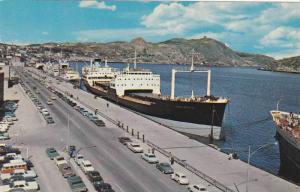 Boat at wharf , ST JOHNS , Newfoundland , Canada , 40-60s