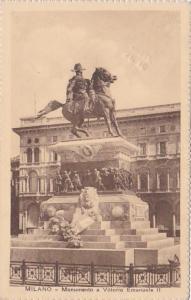 Italy Milano Monumento a Vittorio Emanuelle II 1936