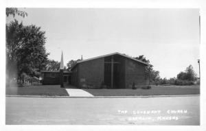 Oberlin Kansas Covenant Church Real Photo Antique Postcard K104003