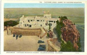 Cheyenne Lodge, Summit of Cheyenne Mountain, Colorado Springs, CO, White Border