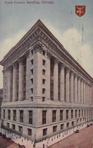 CHICAGO, Illinois, PU-1912; Cook County Building