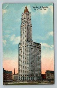 Woolworth Building Skyscraper, Tribecca Trolleys, Vintage New York City Postcard