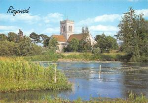 The Parish Church from The Mill-Stream, Ringwood
