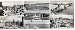 Vintage Panoramic Size Real Photo Devon Postcard, Plymouth Multiview OS77