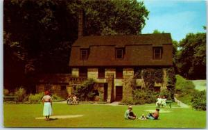 Youngstown, Ohio Postcard MILL CREEK PARK Pioneer Pavilion 1950s Chrome Unused