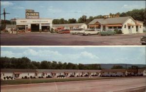 Port Trevorton PA Port Motel Diner Service Station Postcard