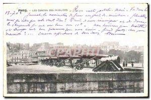 Postcard Old Paris Cannons Invalides
