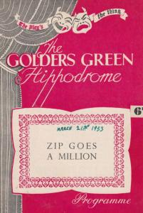 Reg Dixon in Zip Goes A Million 1950s Comedy  Golders Green London Theatre Pr...