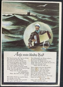 Mint Germany Picture Postcard U Boat Submarine Navy sailors song