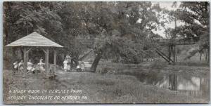 Hershey, Pennsylvania Postcard A Shady Nook in Hershey Park Kids Gazebo c1910s