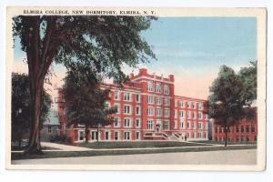 Elmira NY Elmira College New Dormitory Rubin Bros Vintage Postcard