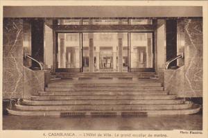 Morocco Casablanca L'Hotel de Ville Le grand escalier de marbre