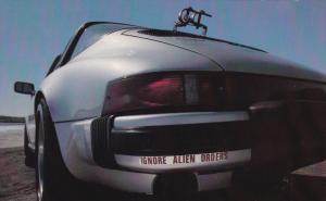Car w/ Ignore Alien Orders Bumper Sticker, Half Moon Bay, California 1981