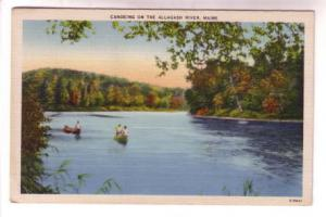 Canoeing on Allagash River, Maine,