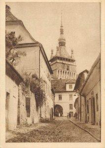 Postcard Romania Sighisoara view