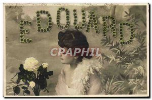 Old Postcard Fancy Edouard Surname