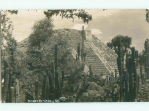 old rppc PYRAMID Country Of Mexico i1822