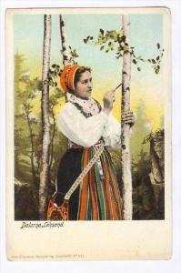 Girl, Dalarne. Leksand, Sweden,  Pre - 1907