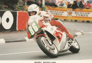 Barry Woodland TT Races Motorbike Superbike Isle Of Man Limited EdnPostcard