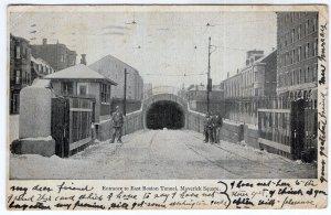 Entrance to East Boston Tunnel, Maverick Square