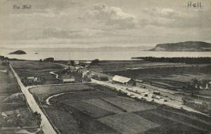 norway norge, HELL, Aerial View of Railway Station (1910s)