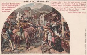 Switzerland Tell's Apfelschuss Nach Dem Wandgemaelde Dr Stueckelberger In Tel...