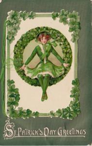 Winsch ; Samuel Schmucker : ST PATRICKS DAY ; Girl & Wreath Booklet