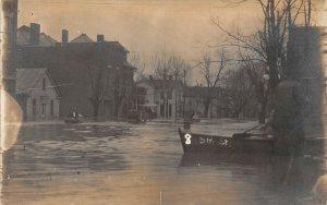 LP66  Peru Indiana Postcard RP 1913 Flood Disaster Damage