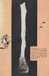 BLACK HILLS of South Dakota, 1920-30s; Needles Eye Tunnel