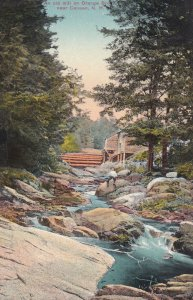 Near CANAAN, New Hampshire, 1900-1910s; An Old Mill On Orange Brook
