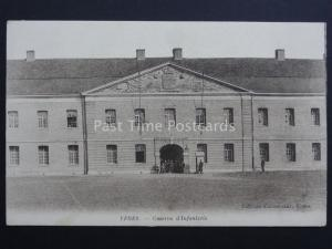 France: YPRES Caserne d'Infanterie - Old Postcard