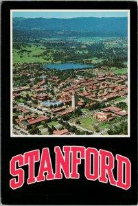 Stanford University Palo Alto CA Calif Aerial Gerald French c1980s Postcard C3