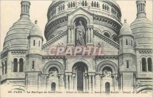 Postcard Old Paris Basilica of Sacre Coeur Detail of Facade