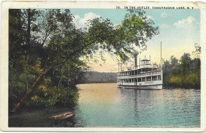 US  Used. Chautauqua Lake, N.Y. #552 Mailed in 1924. Double cancellation.