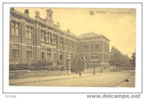 CHARLEROI, Belgium, 00-10s Ecole moyenne de l'Etat