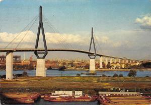 Hamburg Koehlbrandhochbruecke Bridge River Boats Panorama