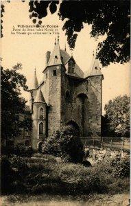 CPA Villenueve-sur-Yonne - Porte de Sens - Cote Nord FRANCE (961054)
