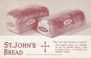 St. John's Abbey, COLLEGEVILLE, MN, 1959; ADV; St. John's Bread in White or Dark