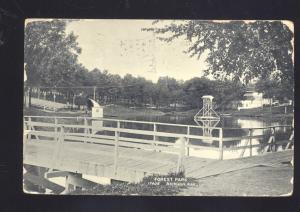 ATCHISON KANSAS FOREST PARK ANTIQUE VINTAGE POSTCARD SWIMMING POOL