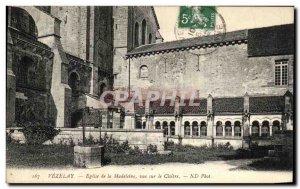 Old Postcard Vezelay Madeleine Church View On Cloitre