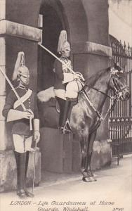 Life Guardsmen At Whitehall London England