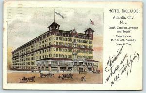 Postcard NJ Atlantic City 1911 View Hotel Iroquois B11
