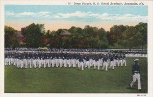 Dress Parade Naval Academy Annapolis Maryland Curteich