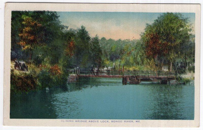 Songo River, Me, Sliding Bridge Above Lock