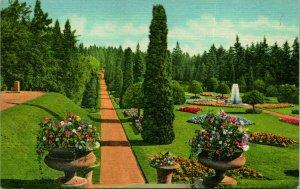 Spokane WA Sunken Gardens Manito Park Postcard unused (19076)
